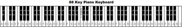 Đàn piano tiêu chuẩn có tất cả 88 phím