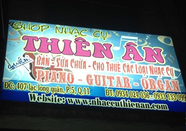 Trung tâm nhạc cụ Thiên Ân là Top 10 Cửa hàng bán nhạc cụ uy tín nhất tại TP. Hồ Chí Minh